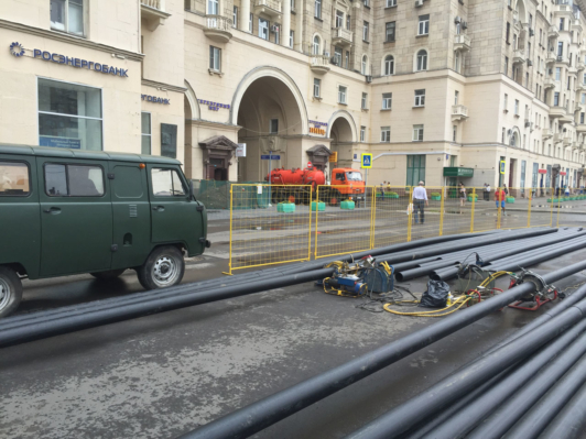 Ленинградский проспект. 200 метров, 6 труб Д-160
